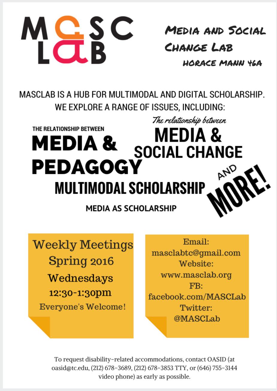 masclab flyer