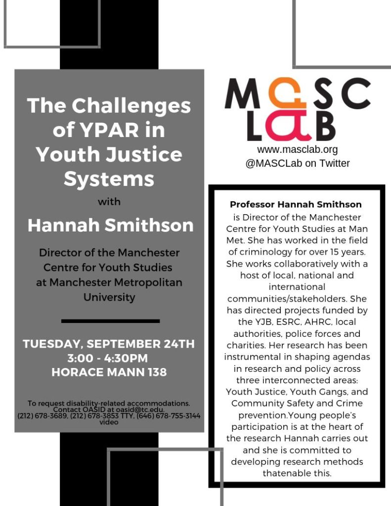 The challenges of YPAR in Youth Justice Systems