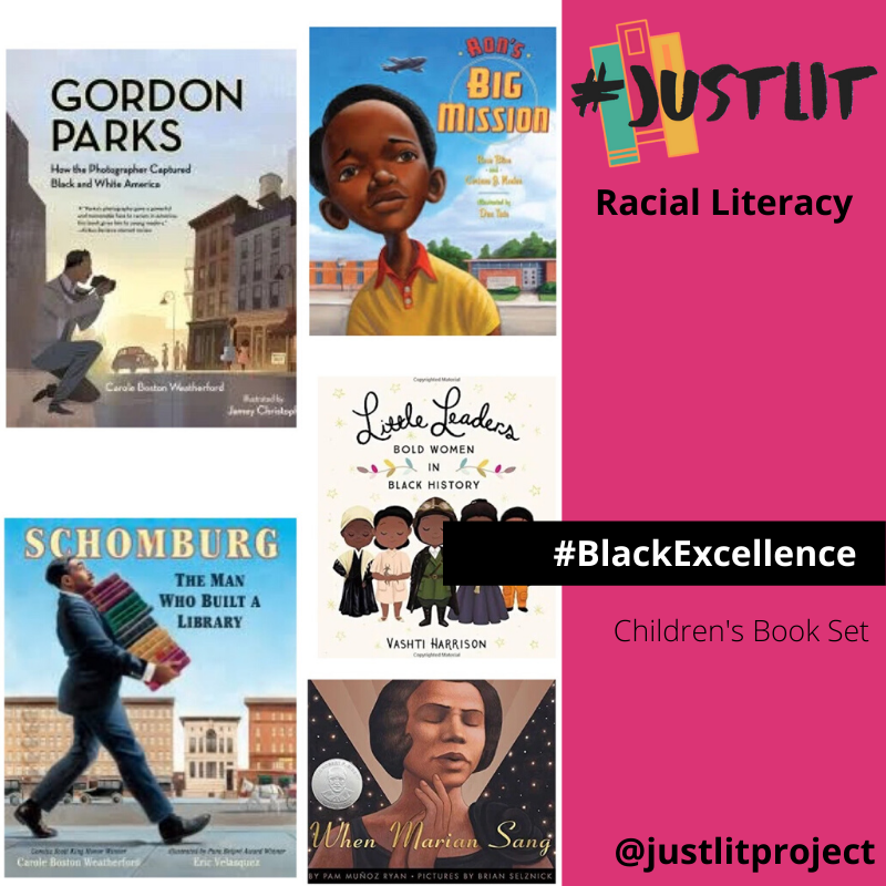 images from #justlit racial literacy social media account. #Blackexcellence